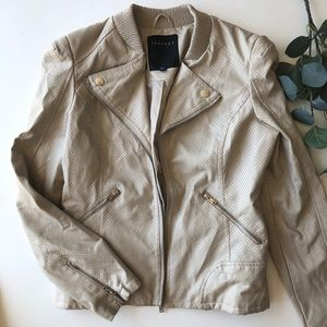 Therapy Cream Faux Leather Jacket